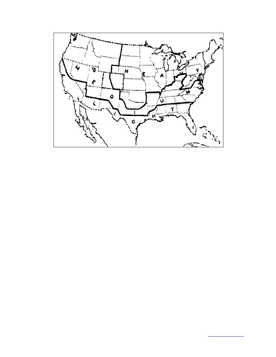 Asce 7 88 Wind Map.Figure 2 National Electrical Safety Code District Map For Ice Loads